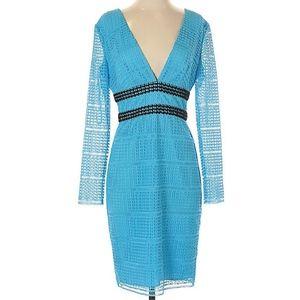 DVF V Neck Viera Lace long sleeve Dress